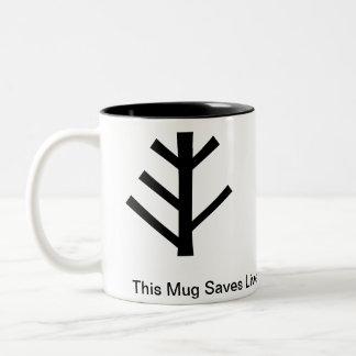 このマグは生命を救います ツートーンマグカップ