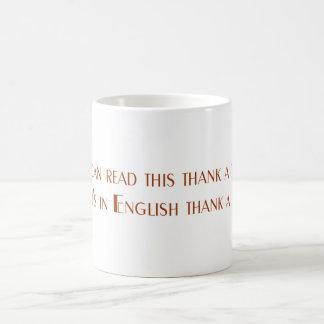 このマグを読むことができれば コーヒーマグカップ