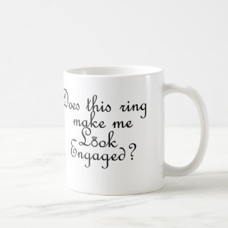 このリングや輪は私を婚約したに見させますか。 コーヒーマグカップ