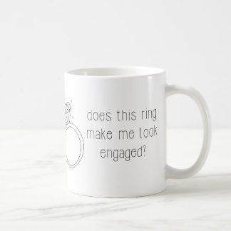 このリングや輪は私を婚約したに見させますか。 コーヒー・マグ コーヒーマグカップ