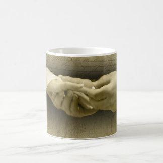このリングを使って、愛を結婚するロマンチックなヴィンテージ コーヒーマグカップ