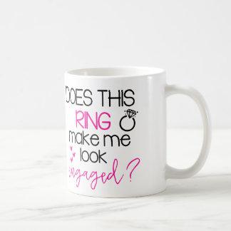 このリングを婚約したなコーヒー・マグを見させます私にします コーヒーマグカップ