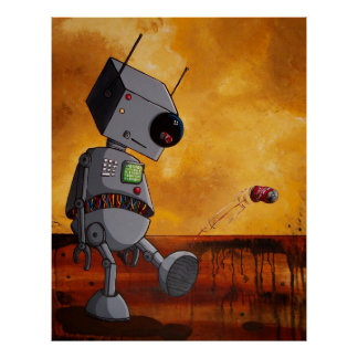 このロボットは退屈します ポスター
