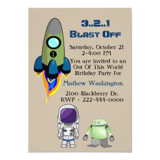 この世界の宇宙の誕生日のパーティの招待状から カード