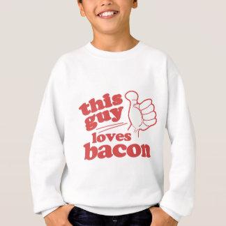 この人はベーコンを愛します スウェットシャツ
