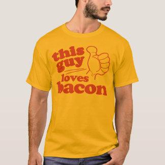 この人はベーコンを愛します Tシャツ