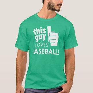 この人は野球を愛します! Tシャツ