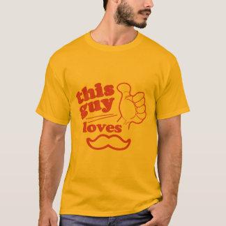 この人は髭を愛します Tシャツ
