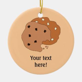 この写実的なクッキーをカスタマイズ セラミックオーナメント
