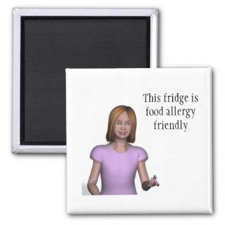 この冷蔵庫はフレンドリーな食物アレルギーです マグネット