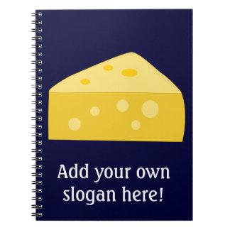 この大きいチーズグラフィックをカスタマイズ ノートブック