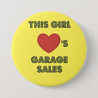 この女の子はガレージセールボタンPinを愛します 缶バッジ