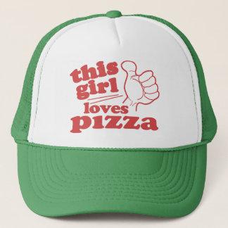 この女の子はピザを愛します キャップ
