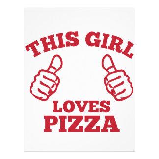 この女の子はピザを愛します レターヘッド