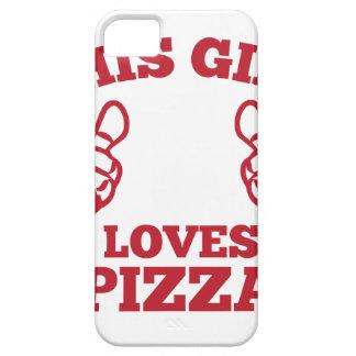 この女の子はピザを愛します iPhone SE/5/5s ケース
