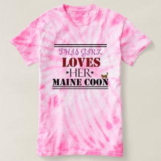 この女の子はメインの彼女のあらいぐまを愛します Tシャツ