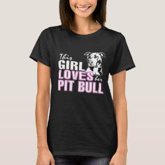 この女の子は彼女のピット・ブル愛します Tシャツ