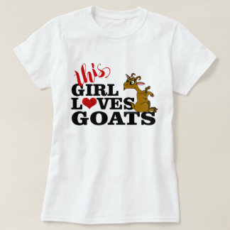 この女の子は漫画のヤギを坐らせているヤギを愛します Tシャツ