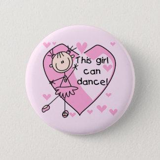 この女の子はTシャツおよびギフトを踊ることができます 5.7CM 丸型バッジ