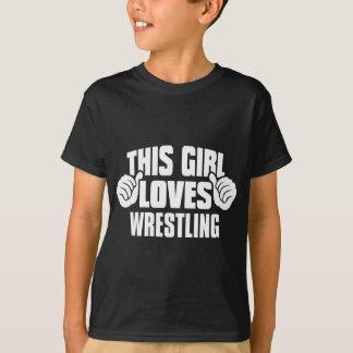 この女の子はTシャツを苦闘することを愛します Tシャツ