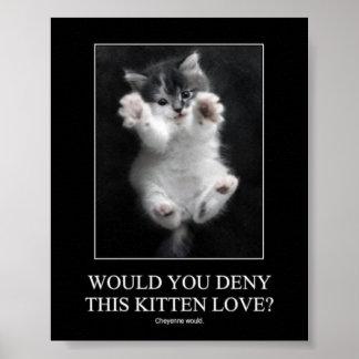 この子ネコ愛を否定しますか。 ポスター