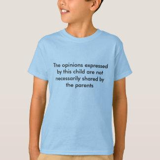 この子供が表現する意見 Tシャツ