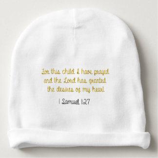 この子供のために私は、サミュエルの1冊の聖書祈りました ベビービーニー