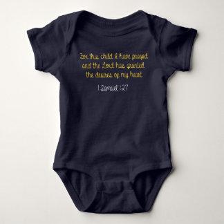 この子供のために私は、サミュエルの1冊の聖書祈りました ベビーボディスーツ