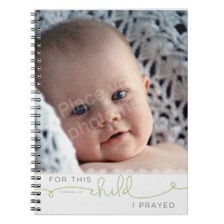 この子供のために私は-サミュエルの1 1:27を祈りました ノートブック