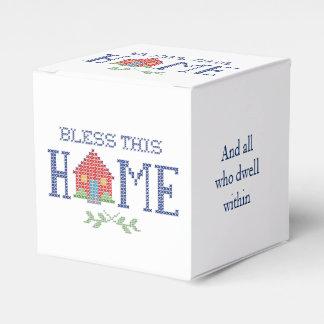 この家の十字のステッチの刺繍を賛美して下さい フェイバーボックス