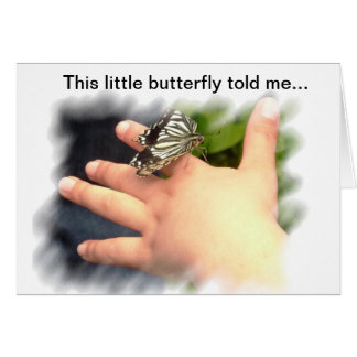 この小さい蝶は私に告げました カード