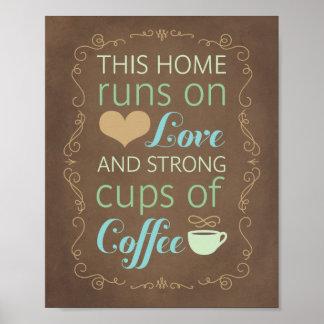 この愛そして強いコーヒーでホームラン ポスター