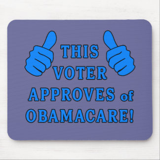 この投票者はオバマケアを承認します マウスパッド