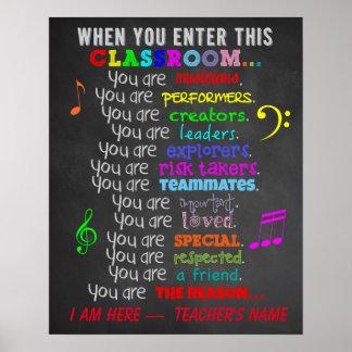 -この教室の規則を入れる場合の音楽の先生 ポスター