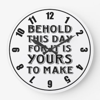 この日によってカスタマイズ引用文の時計 ラージ壁時計