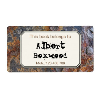 この本は名前をカスタムするの石の質に属します ラベル