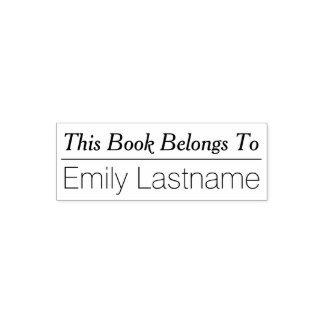 この本は-ラインとの名前をカスタムするに属します セルフインキングスタンプ