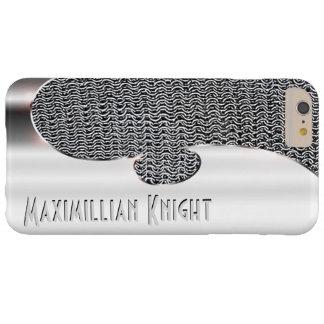 この模造のな銀およびチェーン・メールのあなたの文字 BARELY THERE iPhone 6 PLUS ケース