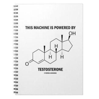 この機械はテストステロン(分子)によって動力を与えられます ノートブック