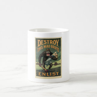 この気違いの募集けだもの- WWIの軍隊の募集を--を破壊して下さい コーヒーマグカップ