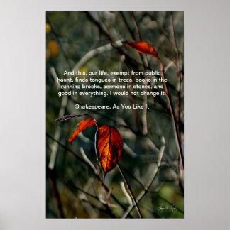 この私達の生命ポスター、シェークスピアの引用文 ポスター