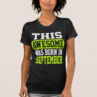 この素晴らしい9月に生まれました Tシャツ
