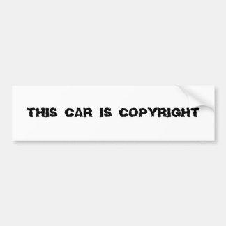 この車は版権です バンパーステッカー