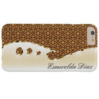 この金ゴールドおよびアラベスクにあなたの名前を置いて下さい BARELY THERE iPhone 6 PLUS ケース