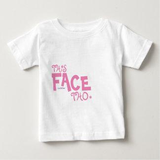 この顔Tho - MzSandino ベビーTシャツ