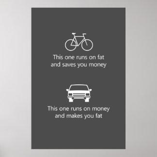 この1つは脂肪で走り、お金を…貯めます ポスター