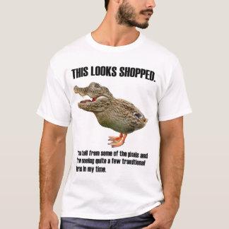 このCrocoduckは買物をされて見ます Tシャツ