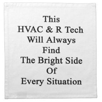 このHVAC Rの技術は明るい面を常に見つけます ナプキンクロス