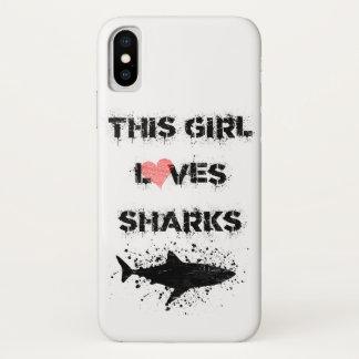 このiPhone Xは女の子鮫の電話箱を愛します iPhone X ケース