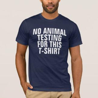 このTシャツのための動物試験無し Tシャツ